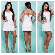 Vestido Curto Jeans Branco