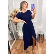 Vestido Longo Mullet Azul