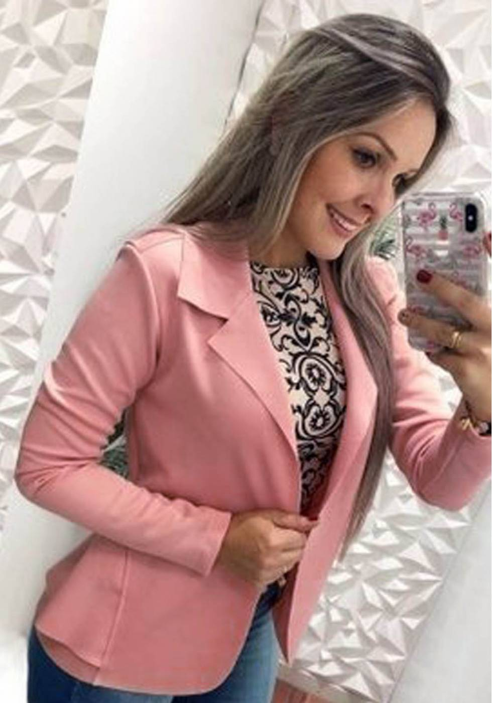 Blazer Neoprene Rose