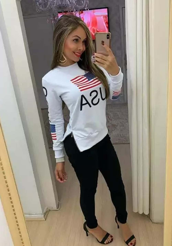 Blusa USA Branca