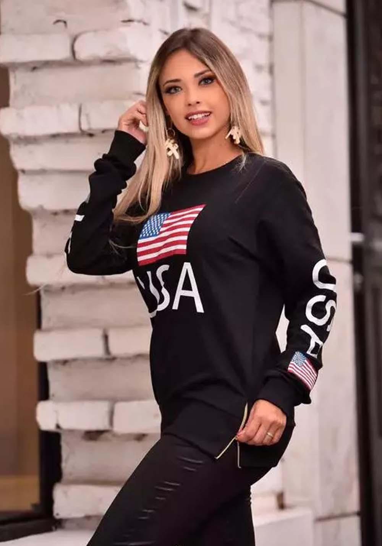 Blusa USA Preta