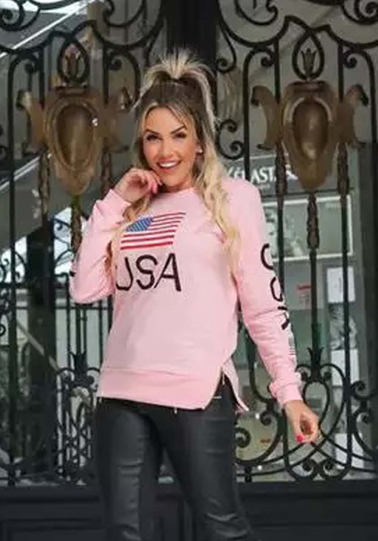Blusa USA Rosa