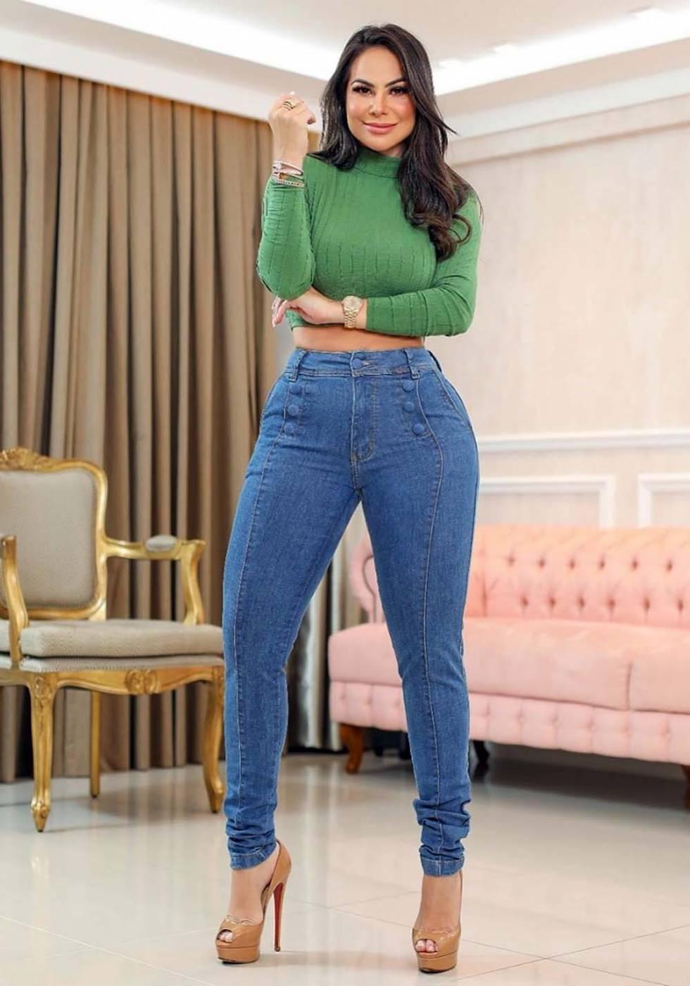 Calça Jeans Premium Básica Botões