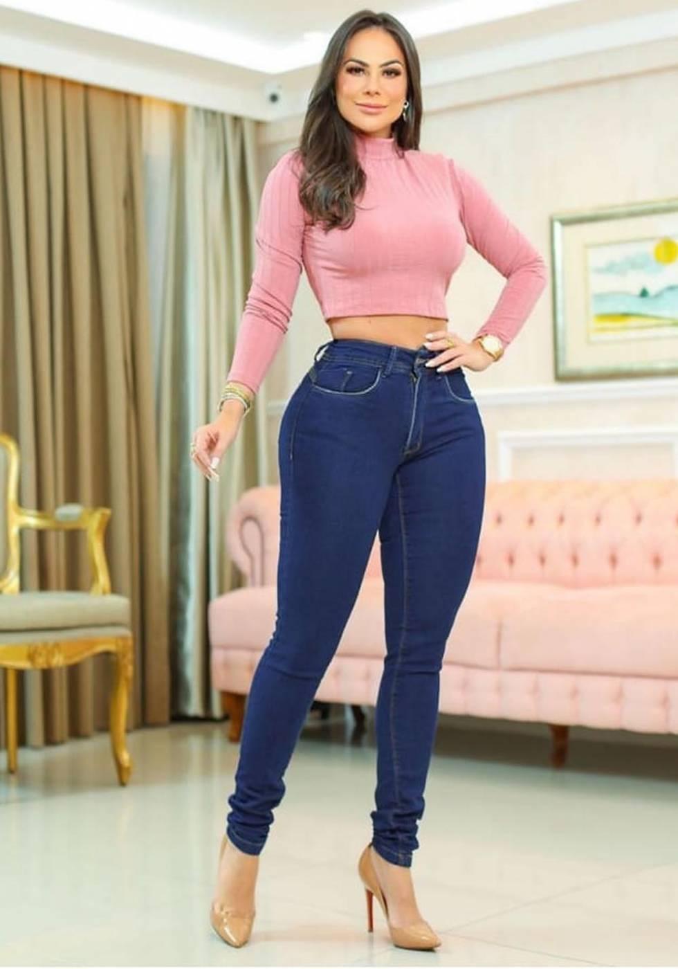 Calça Jeans Premium Básica Escura 01