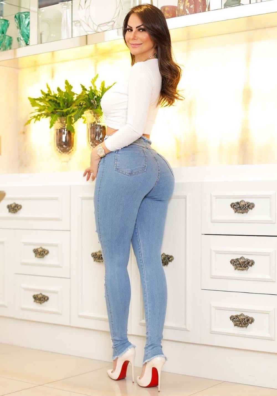 Calça Jeans Premium Destroyed Botões  - Empina Bumbum e Comprime Barriga