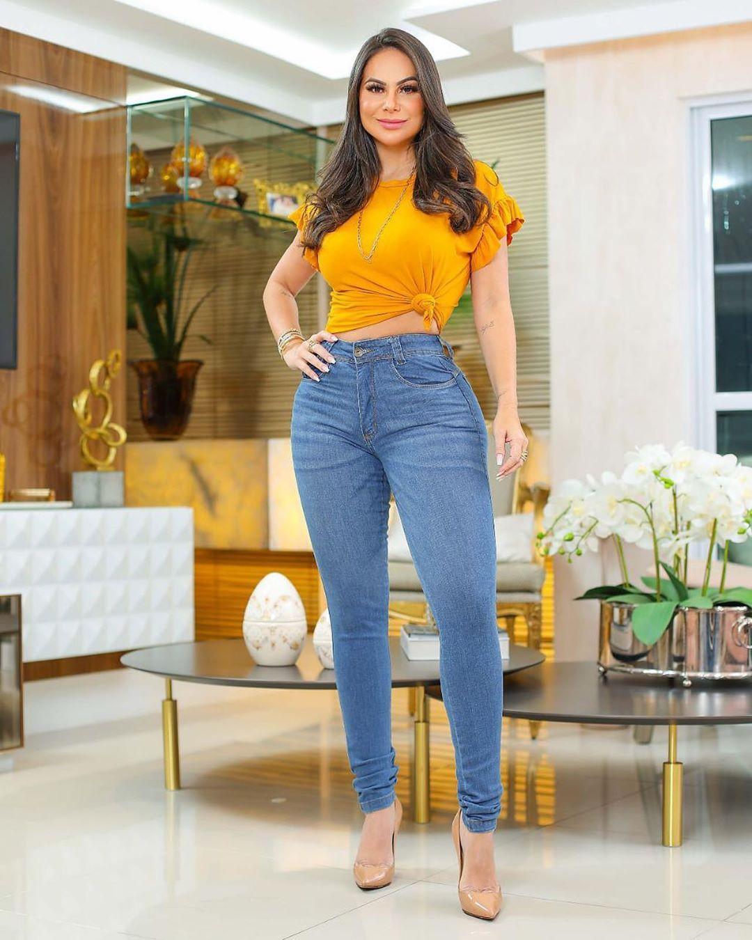 Calça Jeans Premium Modelador Básica 03 - Empina Bumbum