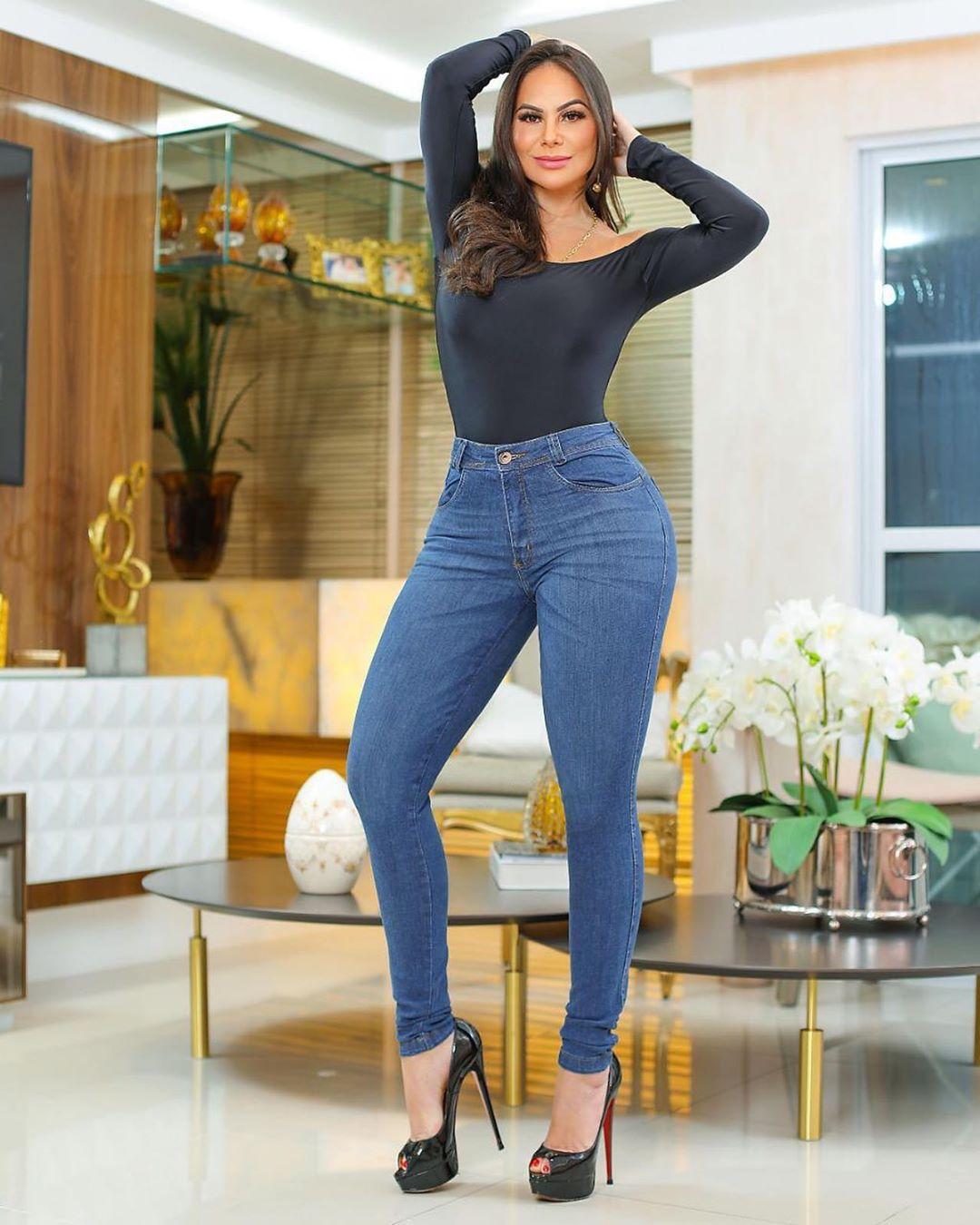 Calça Jeans Premium Modelador Básica 04 - Empina Bumbum