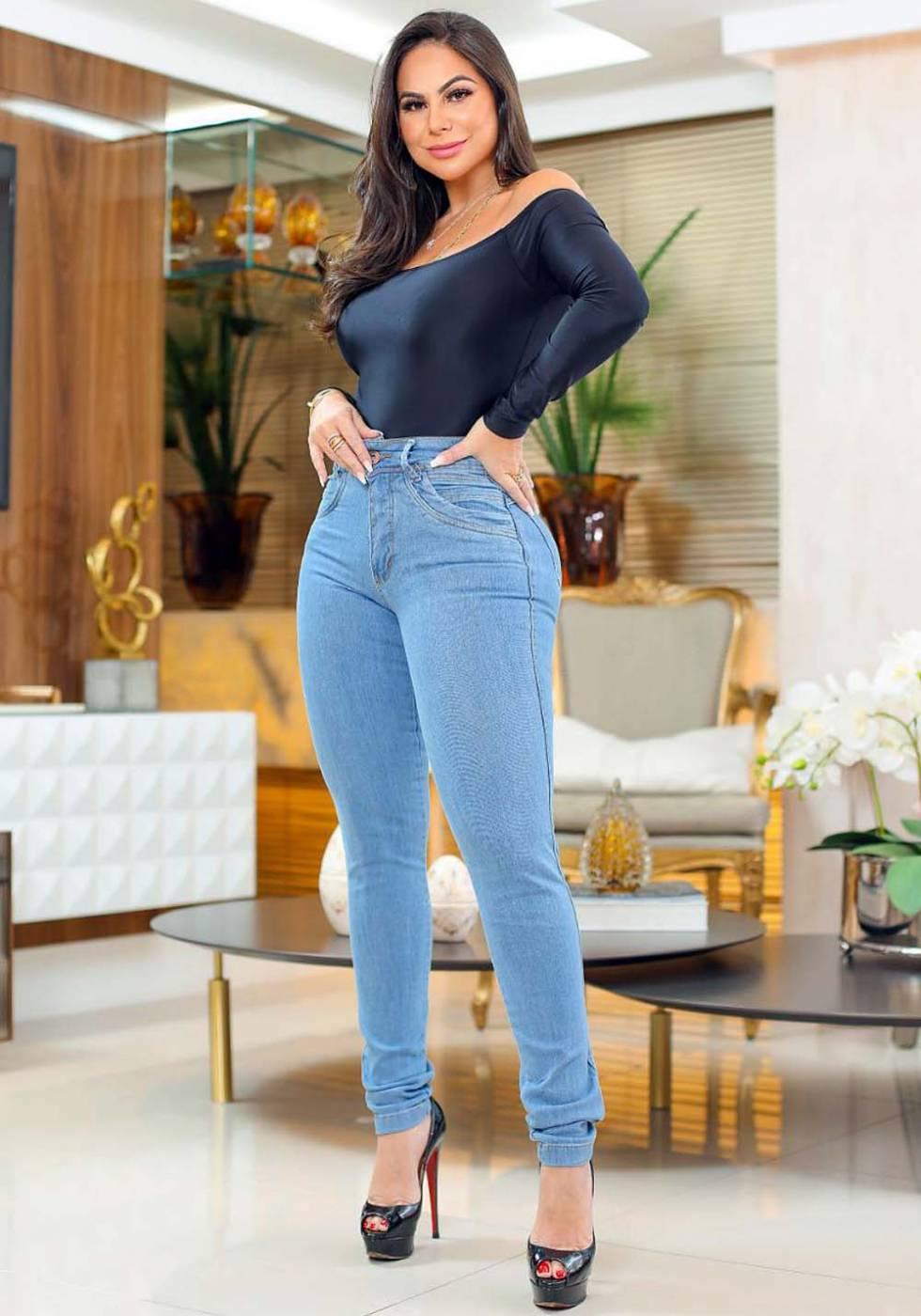Calça Jeans Premium Modelador Básica 05 - Empina Bumbum