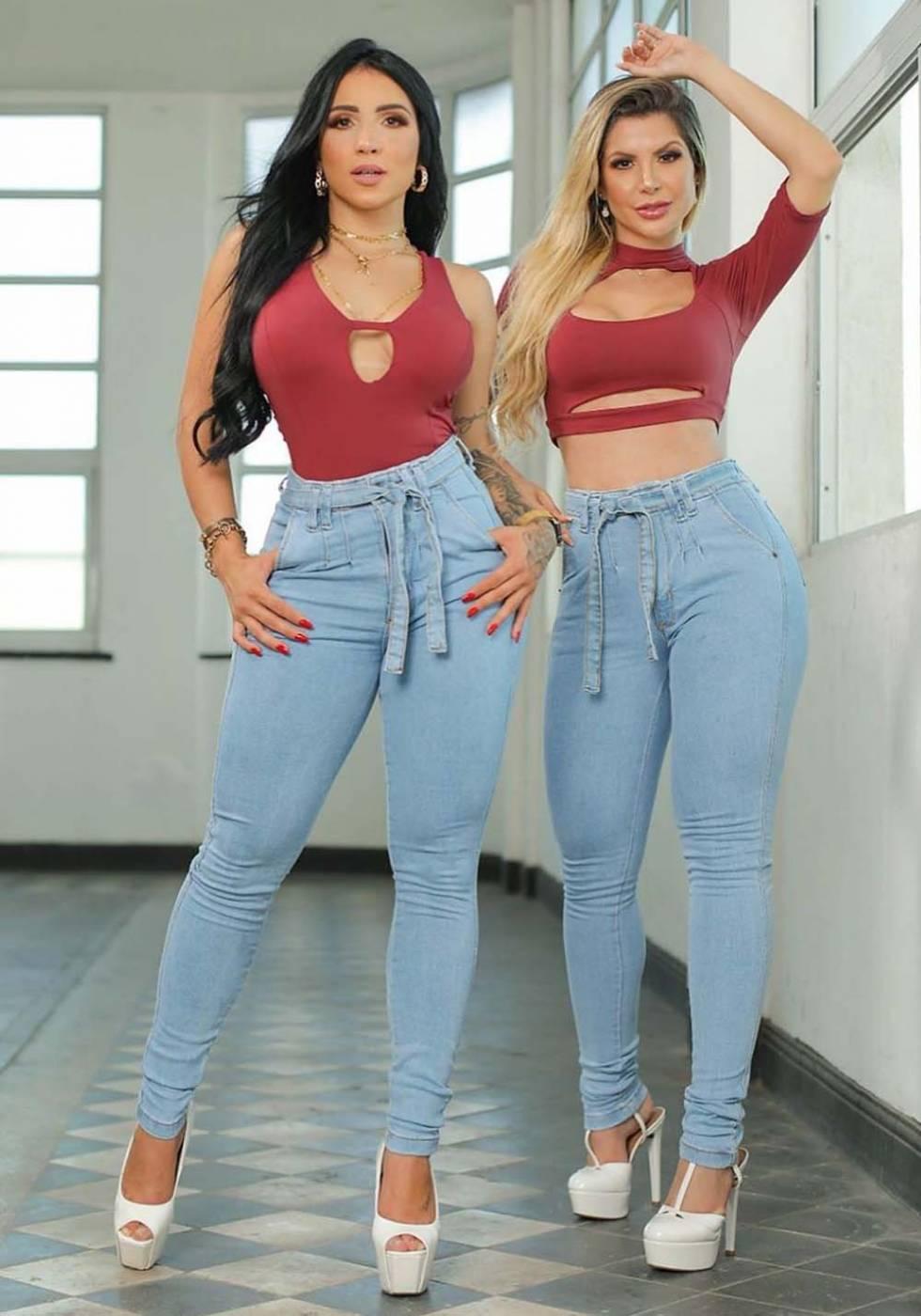 Calça Jeans Premium Modelador Básica Clara - Empina Bumbum