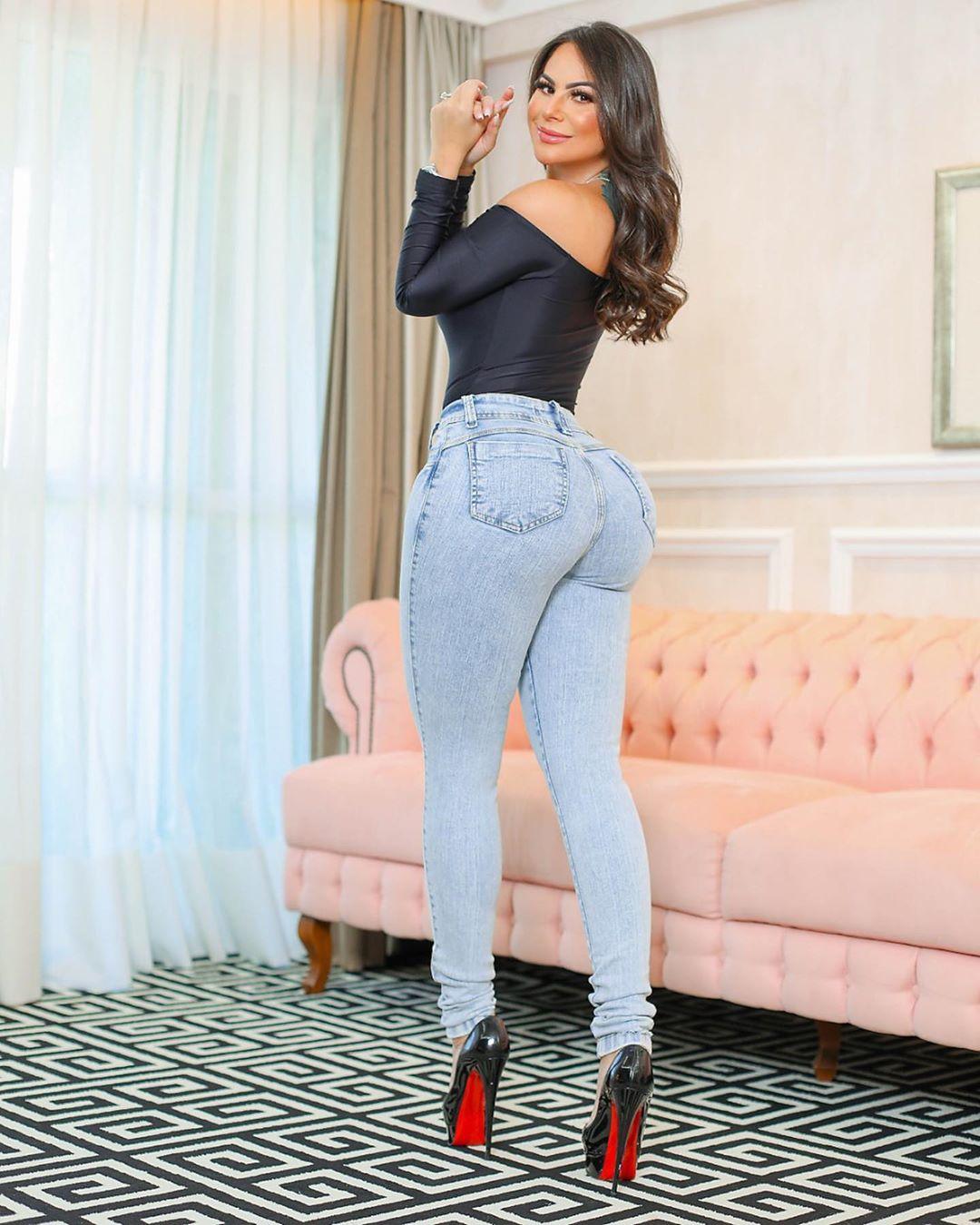 Calça Jeans Premium Modelador Básica Lavada - Empina Bumbum