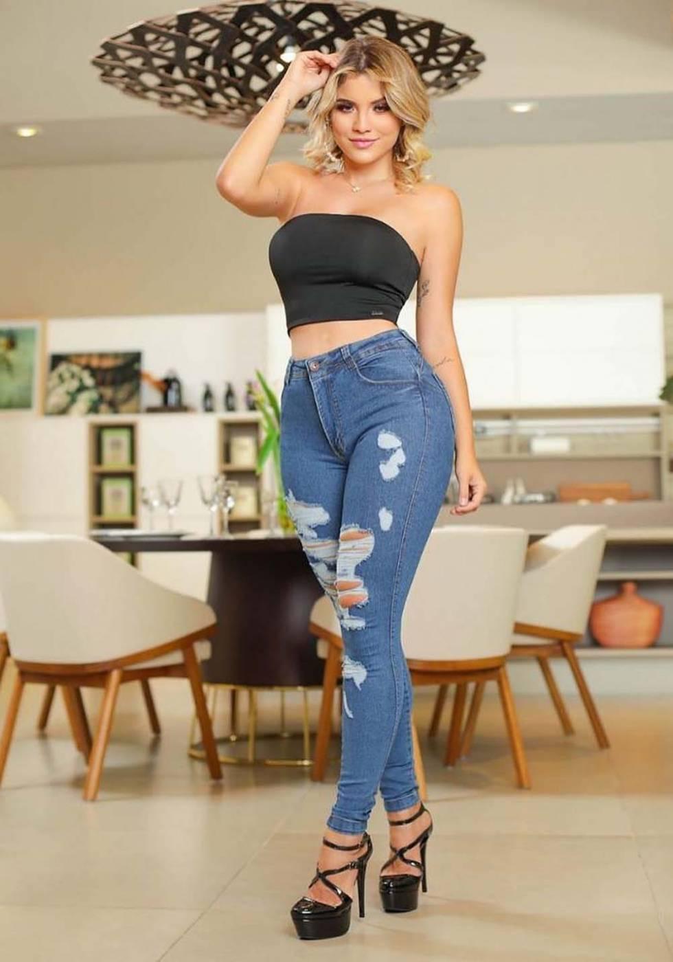 Calça Jeans Premium Modelador Destroyed 02 - Empina Bumbum