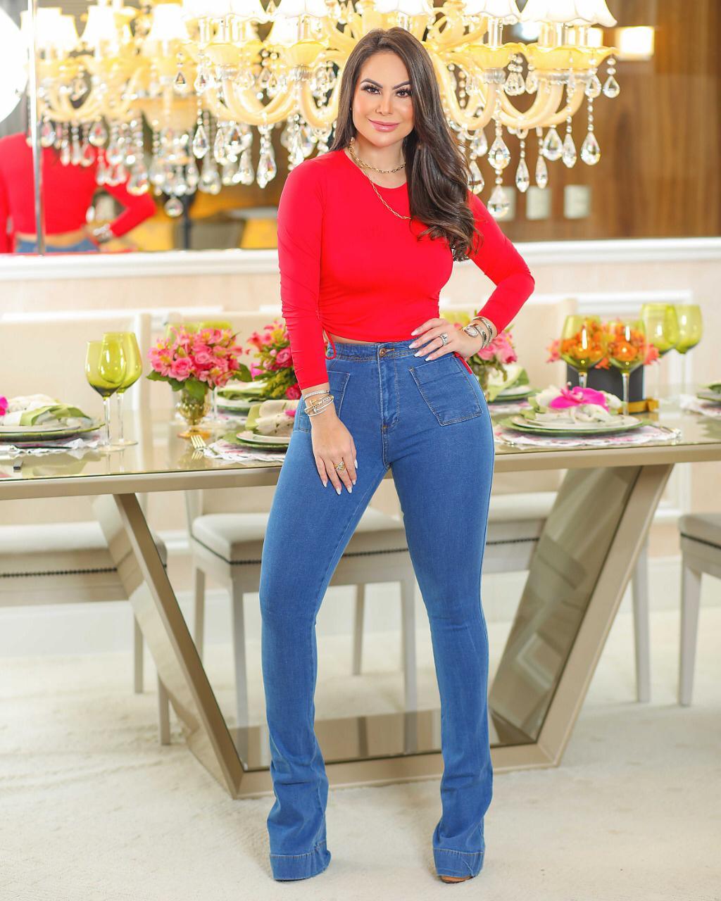 Calça Jeans Premium Modelador Flare - Empina Bumbum