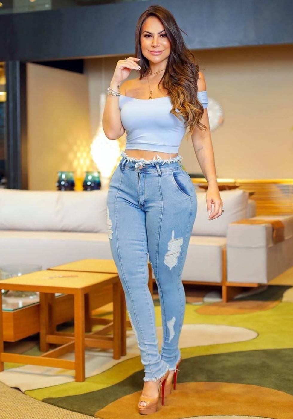 Calça Jeans Premium Modeladora Destroyed 01 - Empina Bumbum