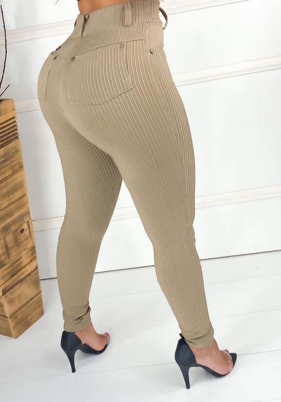 Calça Legging Canelada Nude