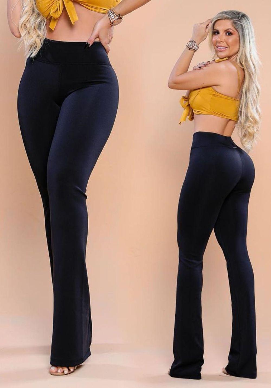 Calça Legging Modeladora Bailarina Preta - Empina Bumbum e Comprime a Barriga