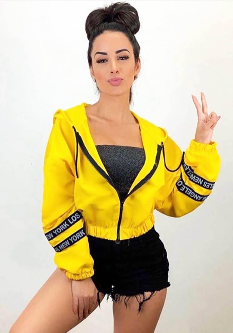 Jaqueta Bomber Corta Vento com Capuz Amarela