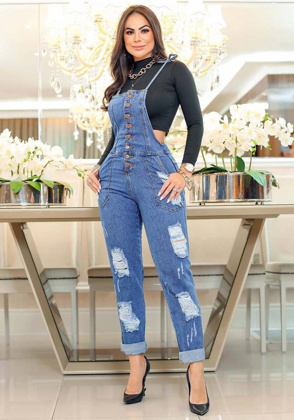 Macacão Jardineira Jeans Premium 03