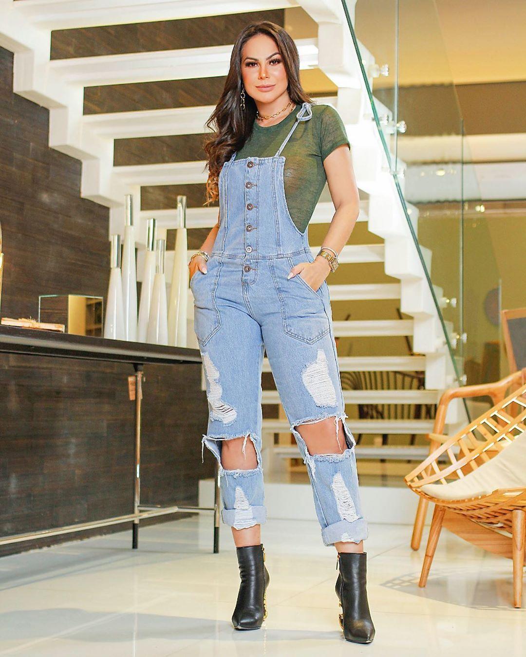 Macacão Jeans Premium Destroyed