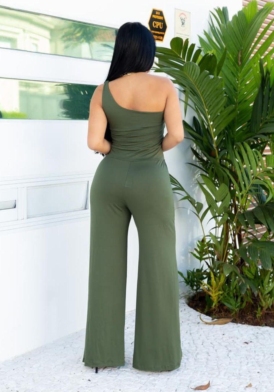 Macacão Pantalona Ombro Só Verde