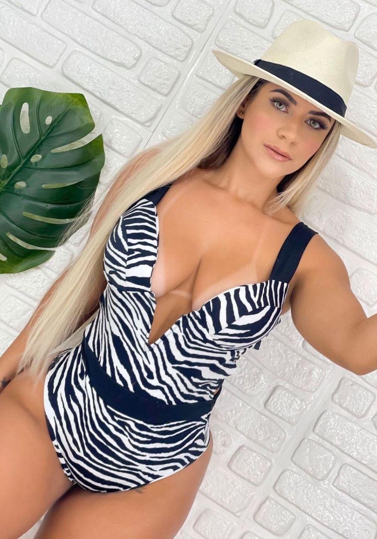 Maiô Zebra em V