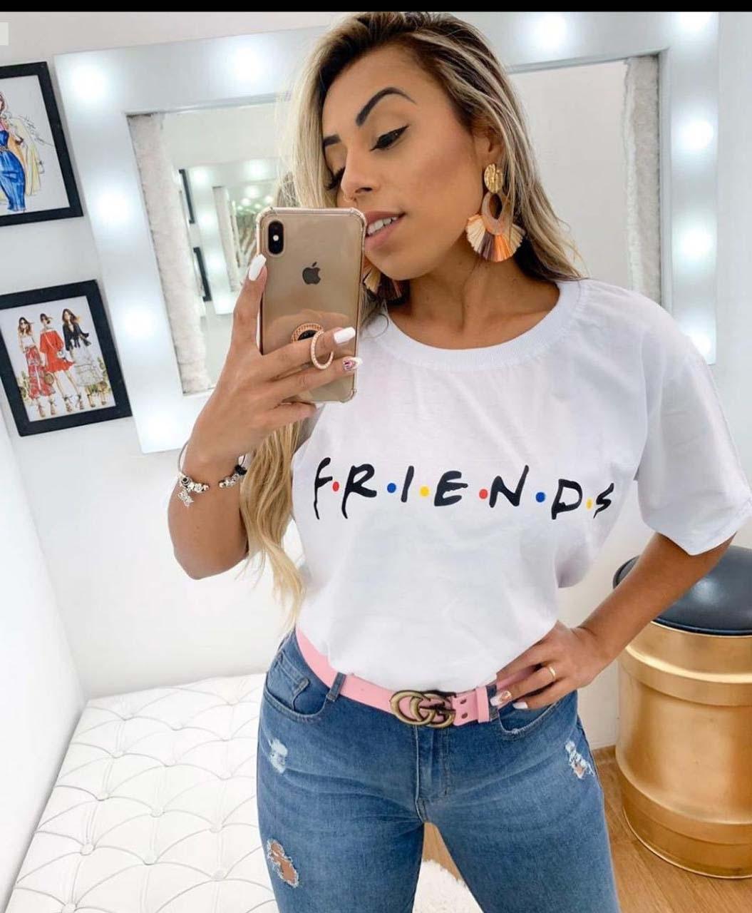 Maxi T-Shirt Friends Branca