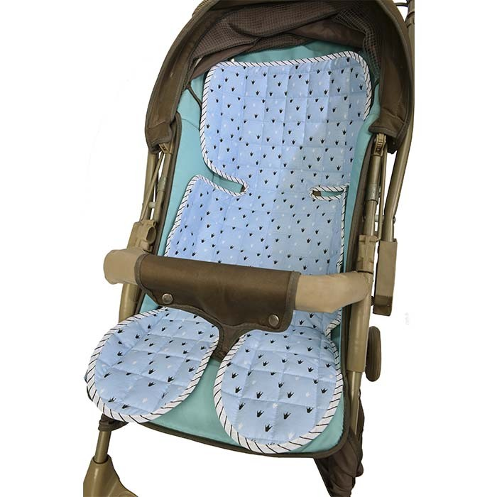 Capa de Carrinho/Bebê Conforto Reininho Encantado Azul