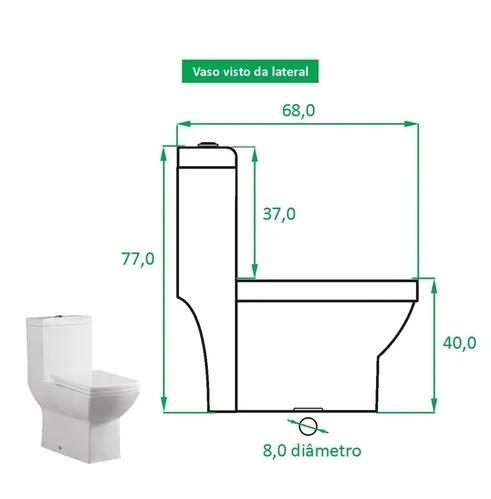 Bacia Sanitária De Porcelana Zt-75
