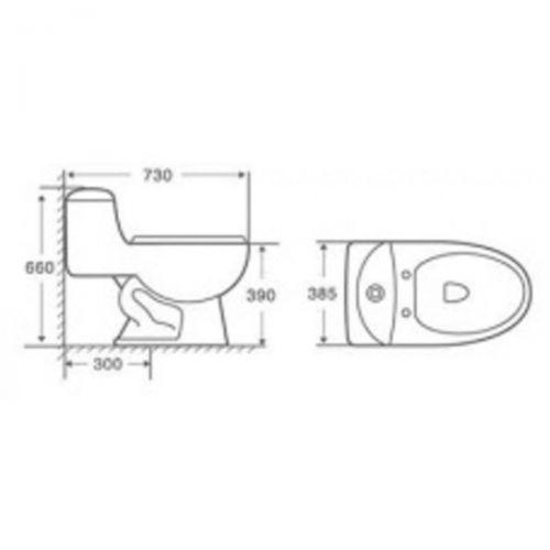 Bacia Sanitário De Porcelana Zt 600