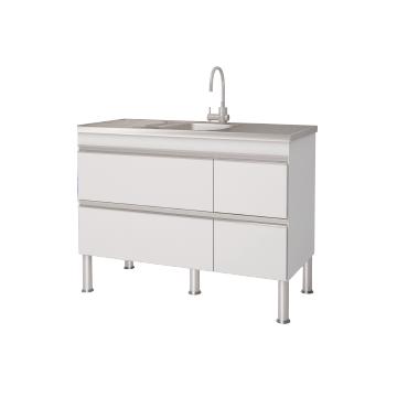 Bancada P/ Cozinha Prisma 1,20m - Branco