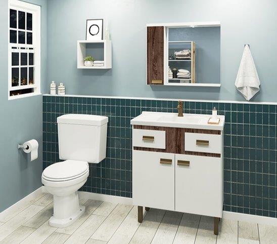 Conjunto Banheiro Com Pé 800 New Fox Br/Fp INATIVO