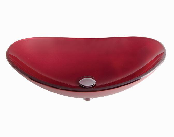 Cuba De Vidro Turmalina Vermelha 54x36cm
