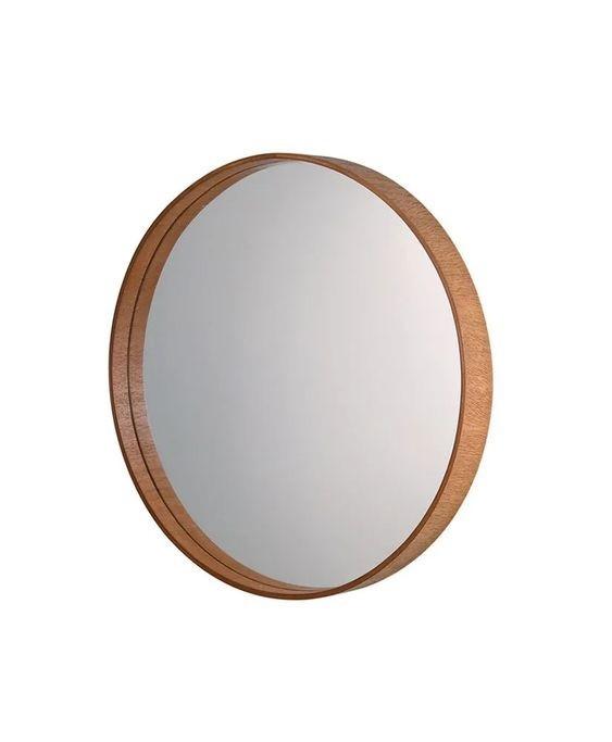 Espelho com Moldura Mogno