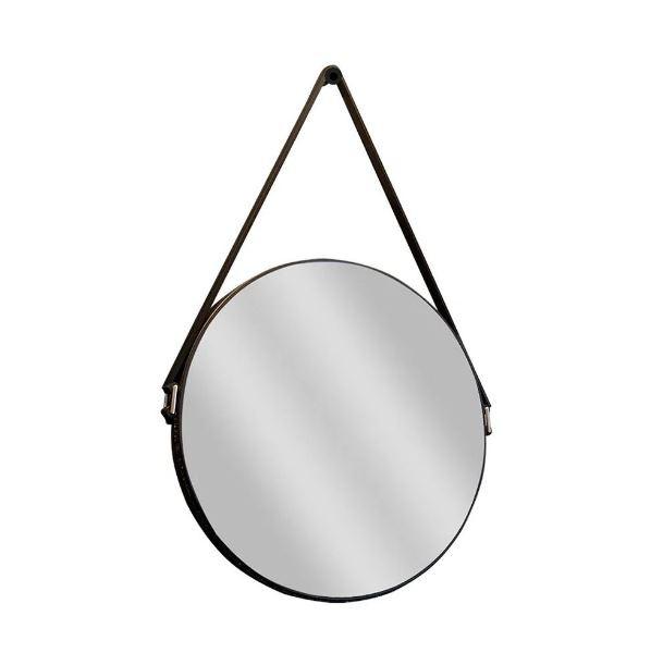Espelho Redondo Mirano Com Cinta - Preto