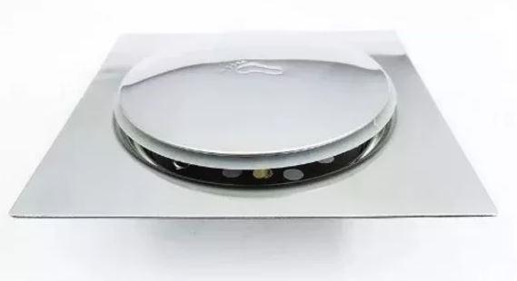 Grelha Quadrada Com Fecho De Pressão 15x15Cm Inox