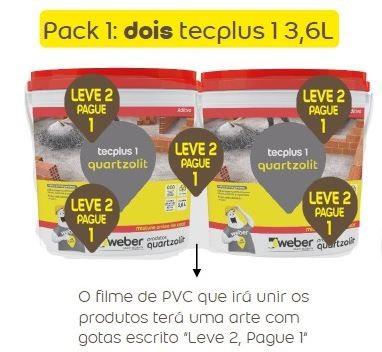 Impermeabilizante Tecplus 1 Pack Promocional 2 baldes 3,6L
