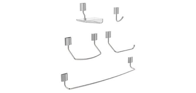 Kit Acessórios Para Banheiro Neo 5 Peças Blukit