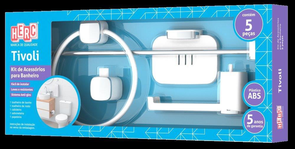 Kit Acessórios Para Banheiro Tivoli