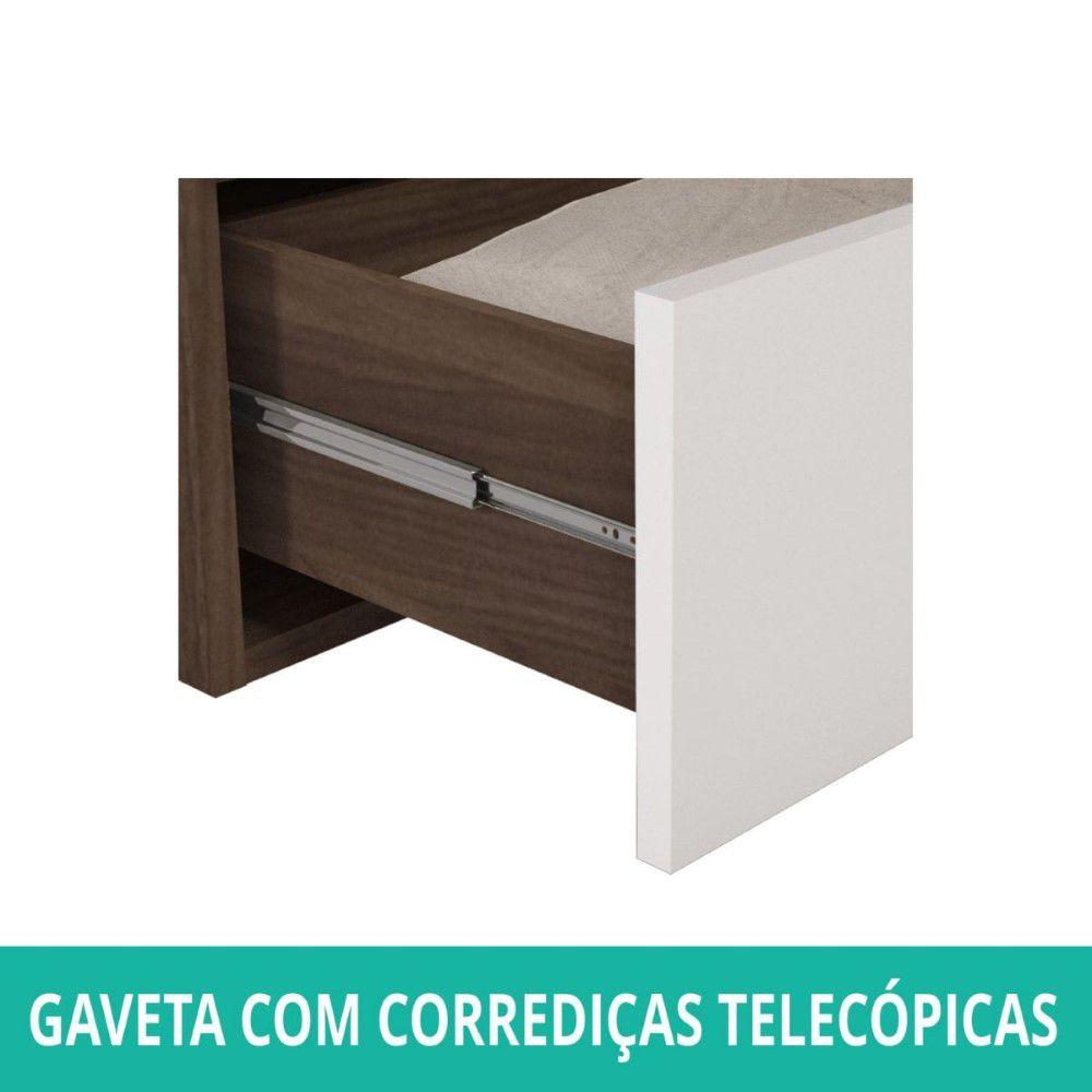 Kit Armario Vix 65x60 - Castanho/Branco