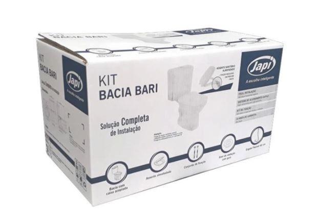 Kit Bacia Para Caixa Acoplada Bari - Branca