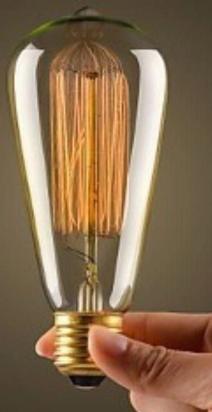 Lâmpada St58 Filamento Carbono 2300k 40w E27 127v