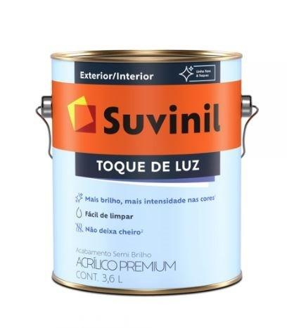 Látex Acrílico Premium Semi Brilho Toque de Luz 3,6L - Branco
