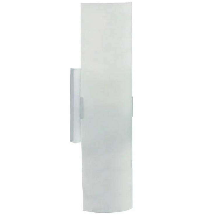 Luminária Arandela Meia-Cana Acetinado 2 Lâmpadas