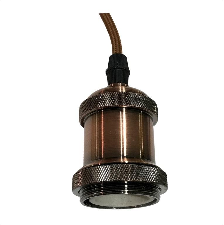 Luminária Bocal Pendente E27 -Bronze