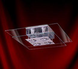 Luminária Plafon Ref: 111 50x50 Quadrado - Transparente INATIVO