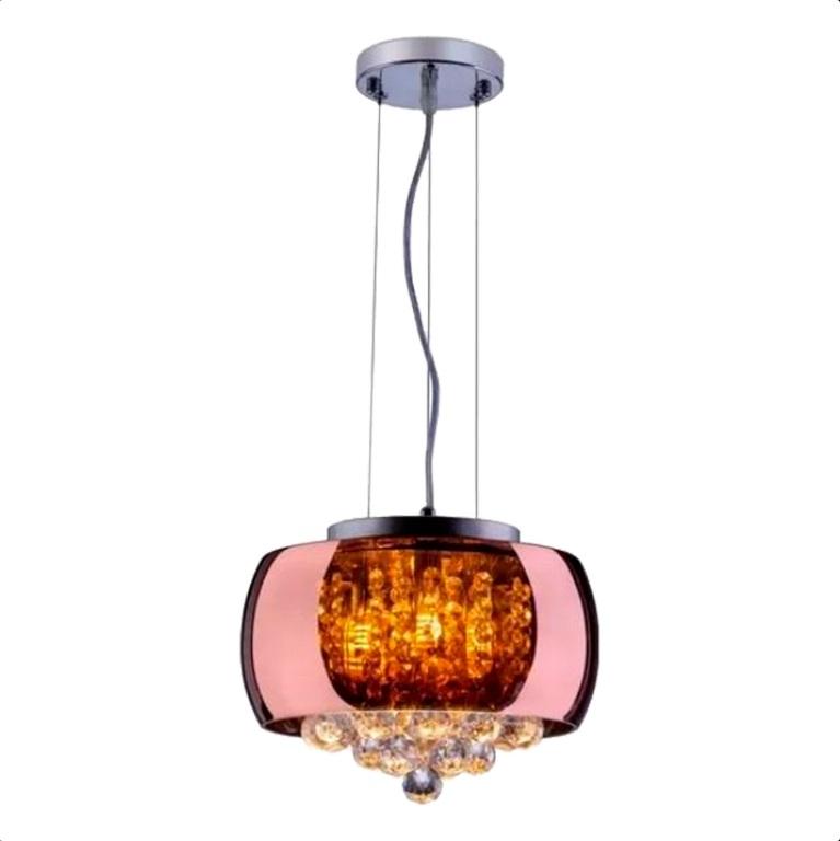 Lustre de Cristal 3 lâmpadas LT-004C