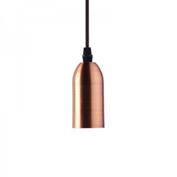 Lustre Pendente Dot Metal Longo - Bronze