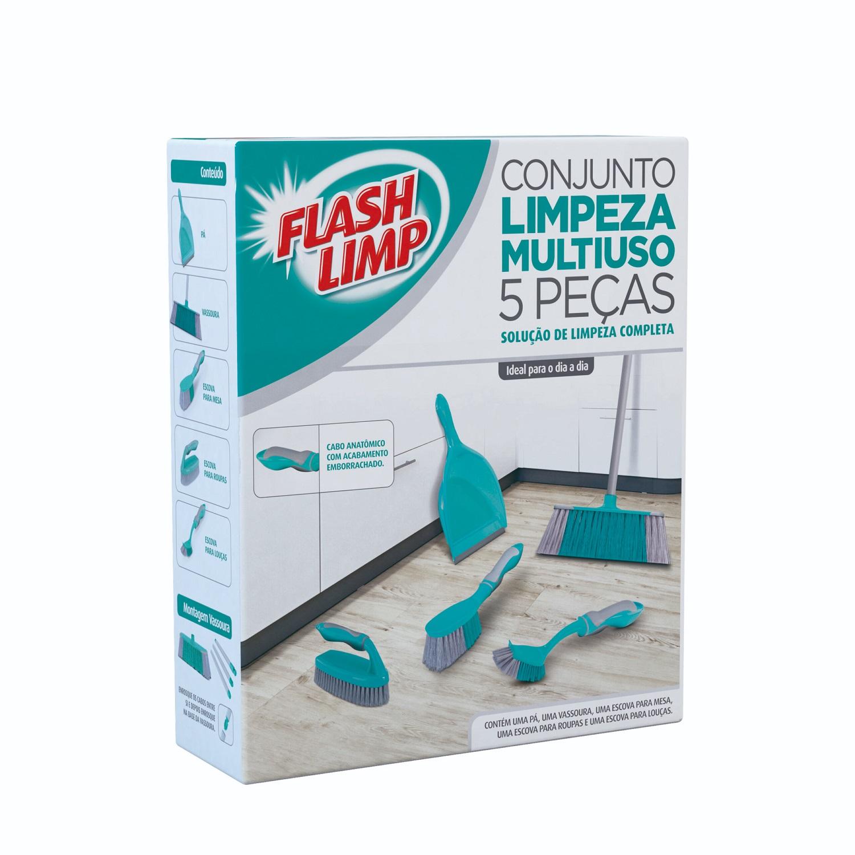 Conjunto Limpeza Multiuso 5 Peças