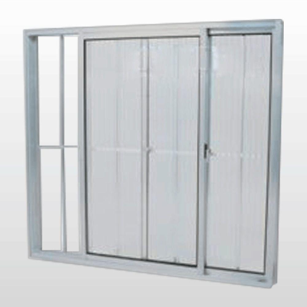 Janela Correr Alumínio 2f - Canelado - Sim, 120x120