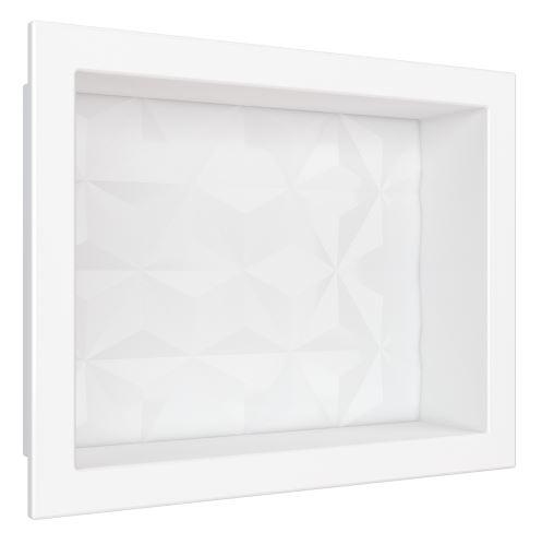 Nicho de Mármore Sintético 40x30Cm - Branco