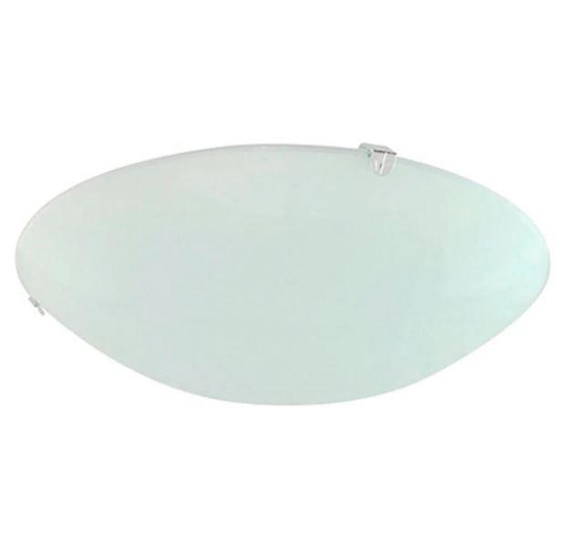 Plafon Redondo Acetinado Vidro 25cm S/Lâmpada